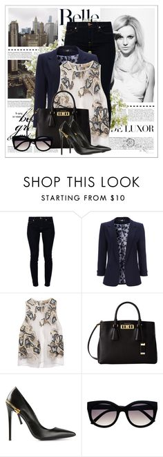 """Cause I'm not fine at all"" by ninotchka-nb ❤ liked on Polyvore featuring DIVA, Britney Spears, 7 For All Mankind, Wallis, Lela Rose, Michael Kors, Gianmarco Lorenzi, Retrò and New Growth Designs"