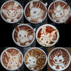 Funny pictures about Pokemon Latte Art. Oh, and cool pics about Pokemon Latte Art. Also, Pokemon Latte Art photos. Cappuccino Art, Coffee Latte Art, Cappuccino Machine, Drink Coffee, Coffee Cream, Coffee Coffee, Morning Coffee, Coffee Cups, 3d Pokemon