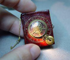 Handmade miniature steampunk Book