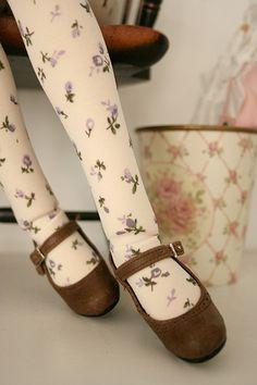 Mori girl tights and shoes.