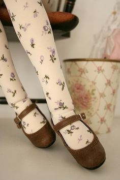 Mori girl tights and shoes.