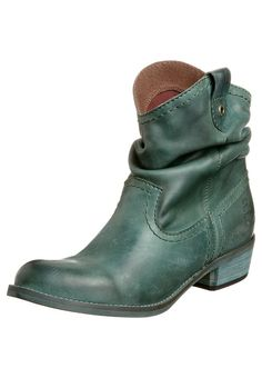 emerald western ankle boots