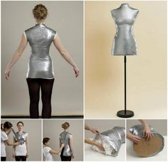 Duct tape mannequin sewing inspiration pinterest duct tape how to make a sewing manniquin diy diy crafts do it yourself diy projects manniquin solutioingenieria Images