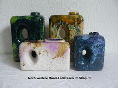 MAREI Lochvase 2005 FAT LAVA Chimney Hole Vase MidCentury 70´s Roth - Ära