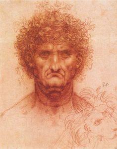 leonardo-da-vinci/old-man-with-ivy-wreath-and-lion-s-head