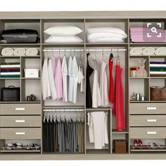 Replace the drawers with more shelves Wardrobe Design Bedroom, Bedroom Wardrobe, Wardrobe Closet, Bedroom Decor, Bedroom Closet Storage, Master Bedroom Closet, Wardrobe Door Designs, Closet Designs, Best Closet Organization