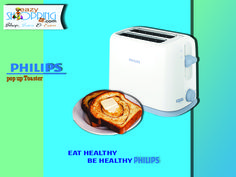 Eazyshopping4u bring Philips pop up toaster, eat healthy and be healthy, for mor visit-www.eazyshopping4u.com