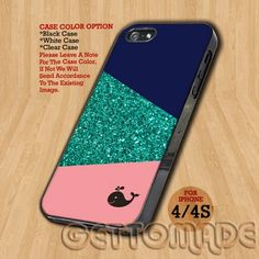 Whale Glitter Giometrys - Print On Hard Case iPhone 4/4S Case   GetToMade - Accessories on ArtFire