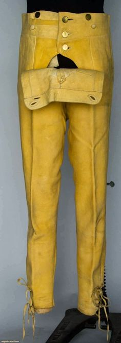 Contemporary Makers: British Consul's Leather Breeches, Boston, 1790
