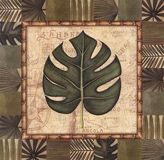 i like tropical leaves