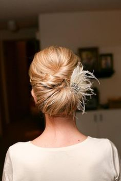 Simple Wedding HairStyles ♥ Wedding Updo Hairstyle.. cute low bun with a twist.