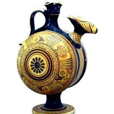 Ancient Greece, Archaic Period. Geometric oinochoe with ornamental decoration; 640 BC. On display at National Archaeological Museum, Athens. (http://helenic-art.com).