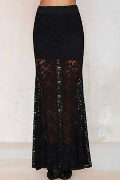 Not a Love Story Lace Maxi Skirt - Black - Skirts | Sets