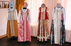 """The Kostroma Regional House of Folk Art is a collection of peasant costumes Kostroma province of the XIX century. The collection includes 17 daily and festive costumes. Author costumes Ekaterina Chugina in conversation emphasized that this is only an attempt to recreate the Russian folk costume. However, the collection has won first place at the All-Russian exhibition """"Russian costume at the turn of the centuries."""""""