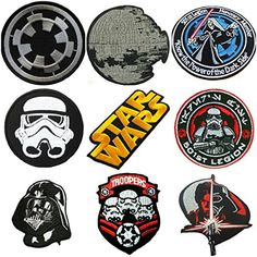 Star Wars Darkside 9set EmbroideredIron On Patches ** Read more reviews of the product by visiting the link on the image.