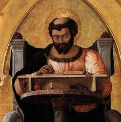 MANTEGNA, Andrea - San Luca Altarpiece (detail) | 1453. Tempera on panel. Pinacoteca di Brera, Milan.