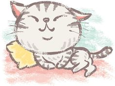 American-Shorthair by Toru Sanogawa, via Behance Kitten Drawing, Cute Cat Drawing, Cute Drawings, American Shorthair Cat, Image Chat, Cartoon Sketches, Car Illustration, Cat Tattoo, Dog Art