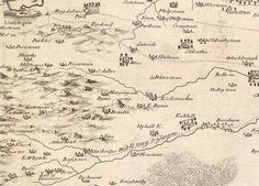 Map of West Lothian from 1737