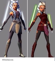 The evolution of the beautiful, strong, and confident Ahsoka Tano.