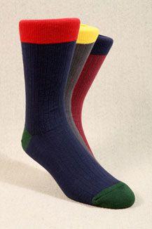 Plain Contrast Socks