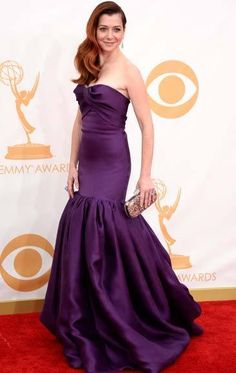 'How I Met Your Mother's' Alyson Hannigan on 2013 Emmys Red Carpet