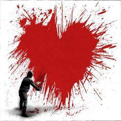 #love #heart > #paint spray