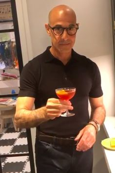 Regarding Stanley Tucci's Inexplicably Sexy Negroni Video: Keep the Tuccorials Coming Actors Male, Actors & Actresses, First Captain America Movie, Hello Beautiful, Beautiful Men, Negroni Recipe, Stylish Men, Men Casual, Bald Men Style