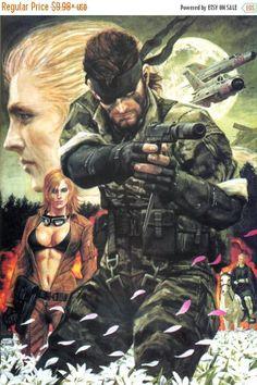 Verano venta Metal Gear Solid 3: Snake Eater Video juego POSTER