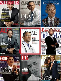 """goodnessgabriela: """" cinexphile: """"Collection of magazine covers featuring Barack Obama """" Bottom left tho 😍 """" Obama 2008, Mr Obama, Barack Obama Family, Obama Art, Presidents Wives, Greatest Presidents, American Presidents, First Black President, Mr President"""