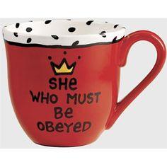 she who must be obeyed   She Who Must Be Obeyed Mug   Shop home   Kaboodle