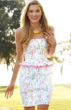 """Lilly Pulitzer LOWE DRESS,""""Resort White Pop"""" Toile Balloons Size 0"""