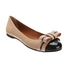 Fendi Bow Ballet Flat. My absolute favorite flat. The colors are mute but the look stands out. Office or jean-worthy.