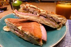 Cuban Sandwiches by The Usual Bliss Get the recipe here.  via @AOL_Lifestyle Read more: https://www.aol.com/article/2016/06/14/how-to-assemble-the-most-perfect-breakfast-sandwich-ever/21394749/?a_dgi=aolshare_pinterest#fullscreen