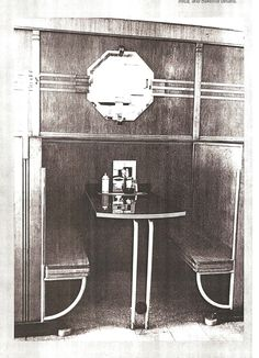 Art Deco seating booth or nook from a diner