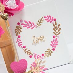 Valentine's Day is just around the corner, what better way to decorate than with this Gold & Pink Love Wall Hanging?