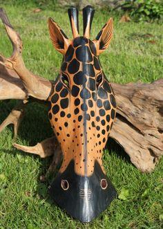 Christmas Gift Ideas: Fairtrade Carved Wooden African Giraffe Mask