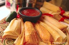 Tamales - our texture was a little weird, probably because we were rookies, but the flavor was awesome. These were actually better reheated the next day.