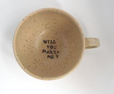 Made to Order - Ceramic Cup / Engagement Present / Proposal Idea
