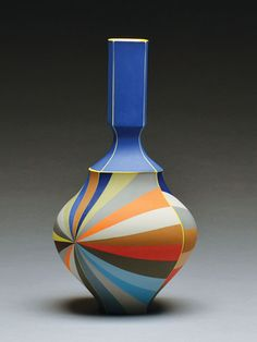 Bottle, 2015, colored porcelain, 11 x 6 x 6 in; Photo: Peter Pincus
