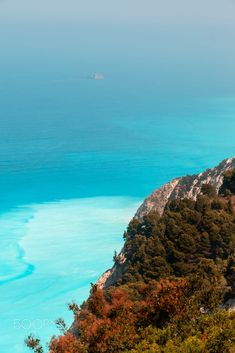Lefkada, Greece, Egremni beach cliff