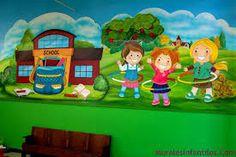 Resultado de imagen para murales de navidad para el colegio