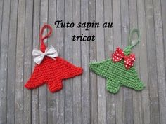 TUTO SAPIN DE NOEL AU TRICOT Christmas tree knitting ARBOL DE NAVIDAD DO...