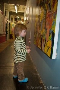 Open artist studios are a great way to introduce little ones to art. Addie had plenty of space to move around, was exposed to a variety of artistic mediums, interacted with artists, and even had the opportunity to make her own art.