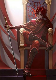 """Found on pixiv by a artist named tinmo. I really love the throne and how it connects with the characters """"personality and style."""""""