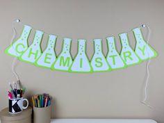 Gift For Chemistry Teacher - Science Classroom Décor - Chemistry Beaker Banner - Classroom Decorations - Teacher Banner - Paper Garland