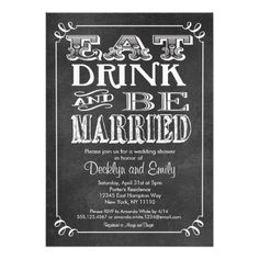 How to Eat Drink Be Married Chalkboard Invitation Wedding In our offer link above you will see