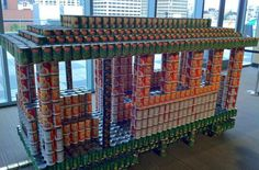 Sculpture of canned food