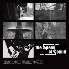 front cover of the lyric book for The Speed Of Sound In A Blood Orange Sky