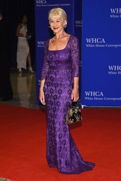 Pin for Later: It Wouldn't Be the White House Correspondents' Dinner Without a Side of Style Helen Mirren In a purple gown, paying tribute to Prince.