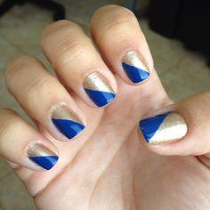 My nails! OPI glitzerland & Essie mesmerize